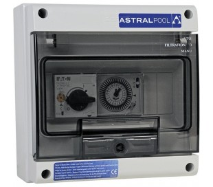 Coffret étanche 1 filtration ou balai seul + Disjoncteur