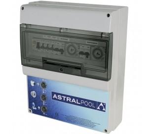 Coffret étanche 1 filtration + balai + 2 projecteurs + disjoncteur