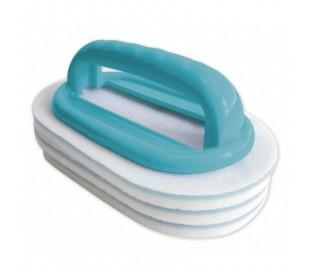 Brosse ligne d'eau avec 2 tampons BAYROL