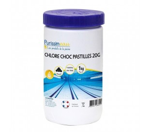 Chlore choc pastille 20g 1kg