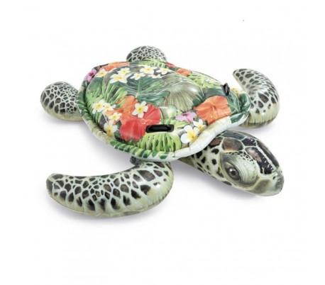 Grande tortue de Mer à chevaucher