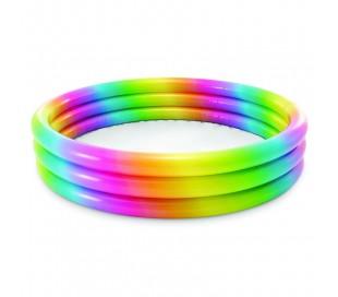 Piscinette rainbow intex