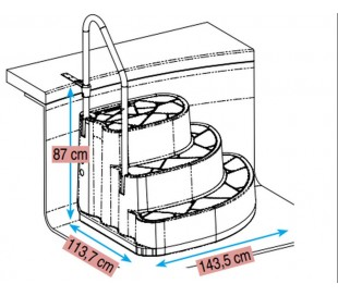 Escalier TUX Procopi-BWT